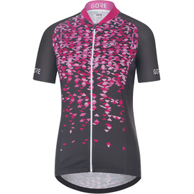GORE WEAR C3 Petals Jersey Women raven brown/raspberry rose